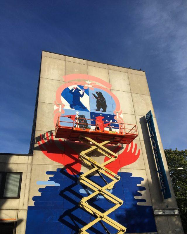 Kävis Jatkoilla voi samalla käydä ihastelemassa uusia seinämaalauksia!